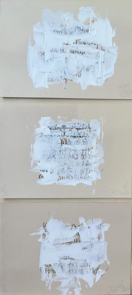Calligraphie contemporaine par Dominique Ribes, série Stéganographies