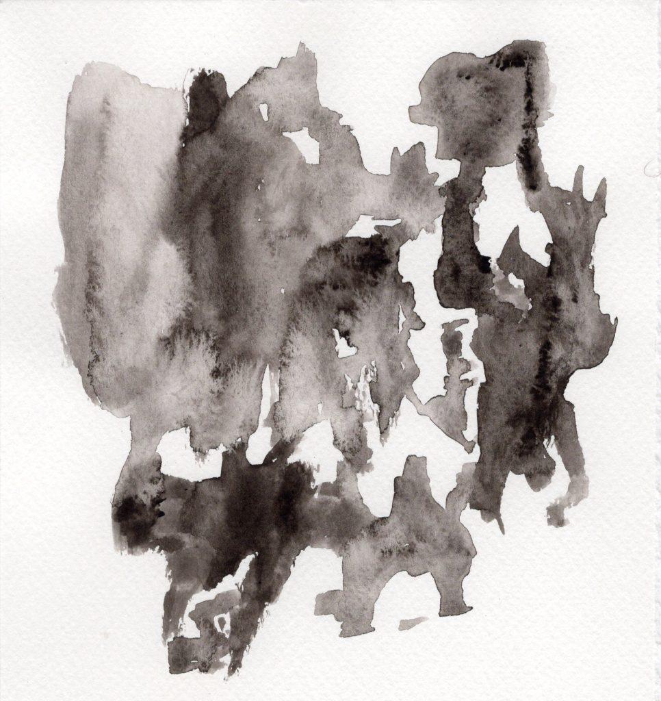 Petit format, dessin à l'encre, par Dominique Ribes.