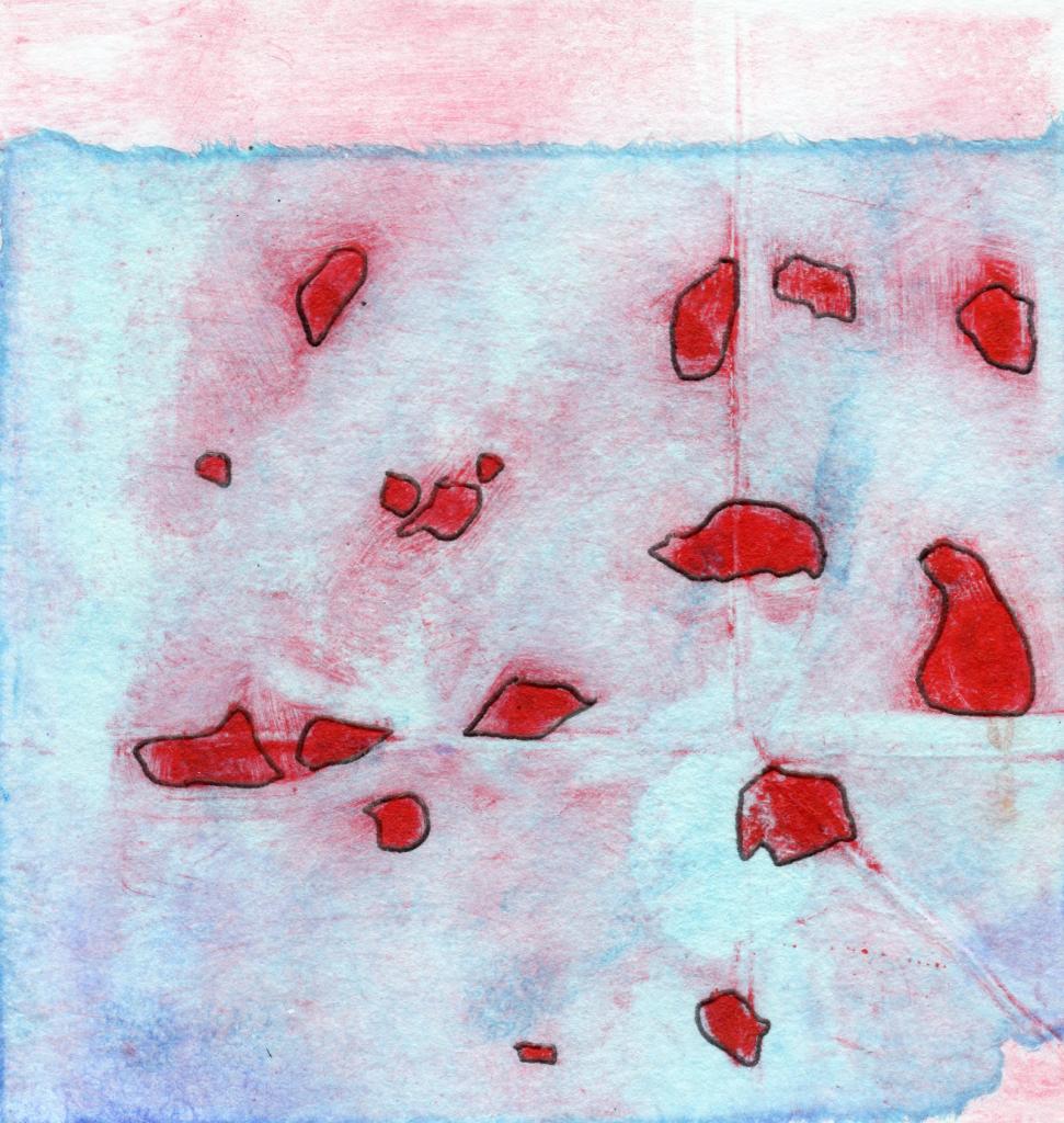 Petit format, monotype et techniques mixtes, par Dominique Ribes.